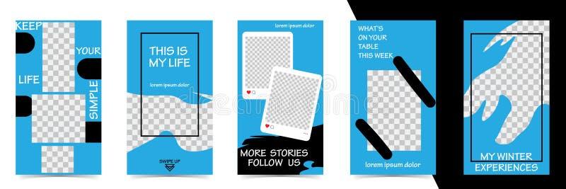 Editable Instagram-Geschichtenschablone strömen lizenzfreie abbildung
