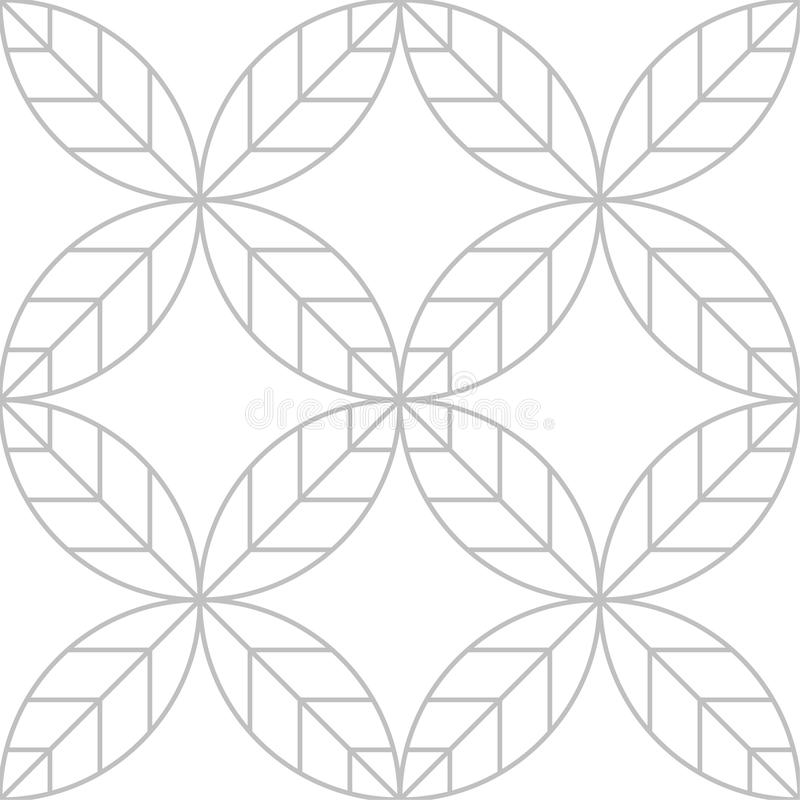 Editable Seamless Geometric Pattern with Leaf Design stock photos