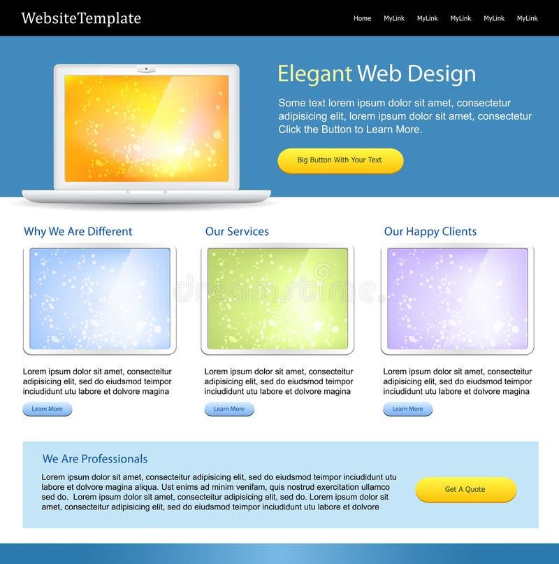 editable site template web διανυσματική απεικόνιση