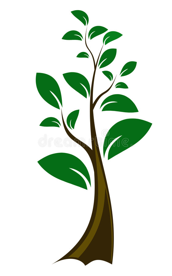 Editable Small vector tree vector illustration