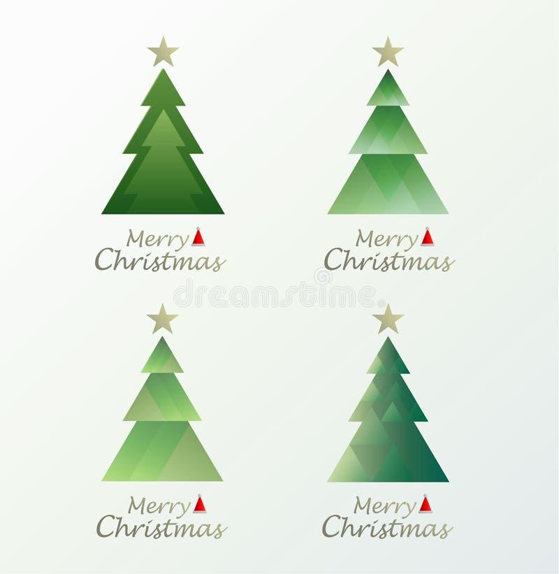 Editable vectorillustratie van origineel Vrolijke Kerstmis minimale stijl royalty-vrije illustratie