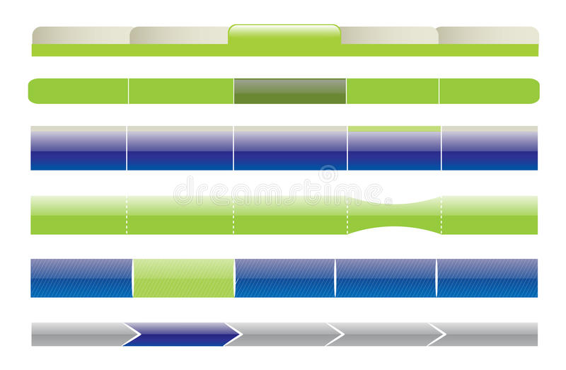 Editable Web-Schablone stock abbildung