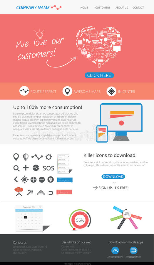 Editable web template royalty free stock photography