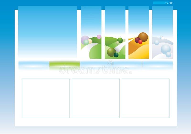 Editable web template vector illustration