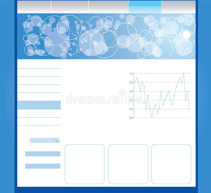Editable web template stock illustration