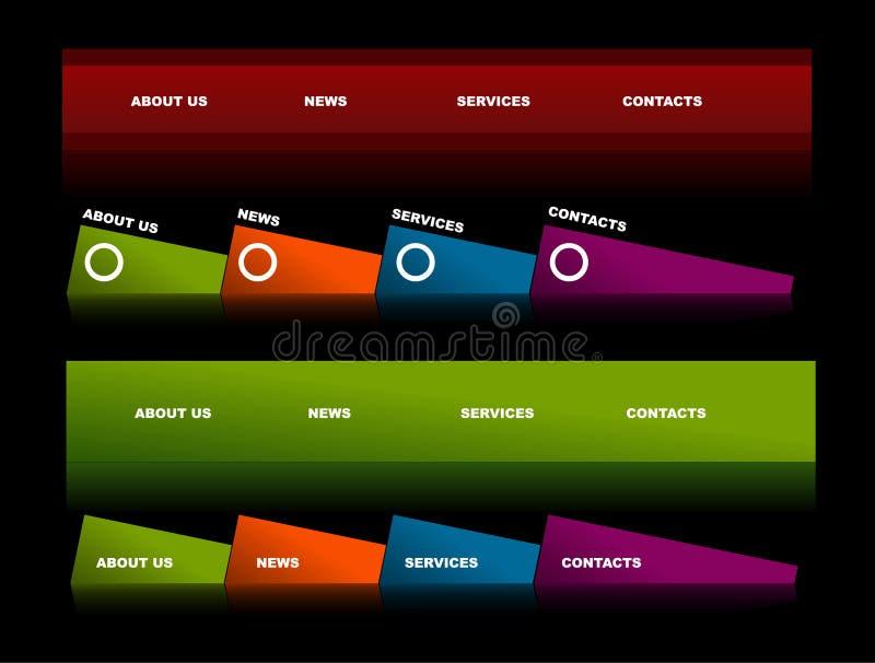 Editable website navigation templates 2. Easy to edit stylish website navigation templates 2 royalty free illustration