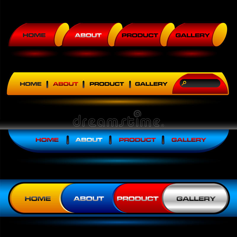 Download Editable Website Vector Buttons Stock Vector - Illustration of banner, alloy: 14184874