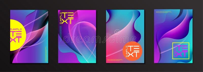 Editable Wektorowy fluid pokrywy projekta szablon fotografia royalty free
