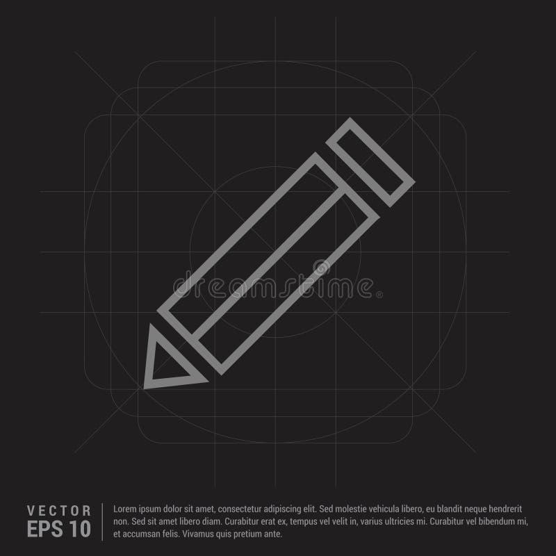Edite, escreva o ícone - fundo criativo preto ilustração do vetor