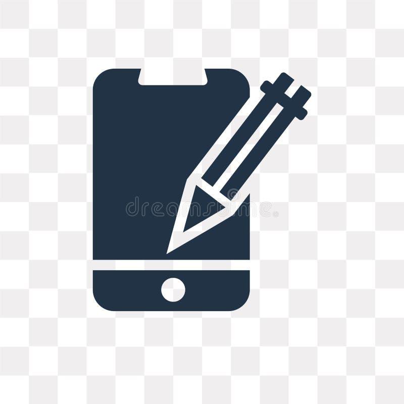 Edite o ícone do vetor da ferramenta isolado no fundo transparente, edite t ilustração royalty free