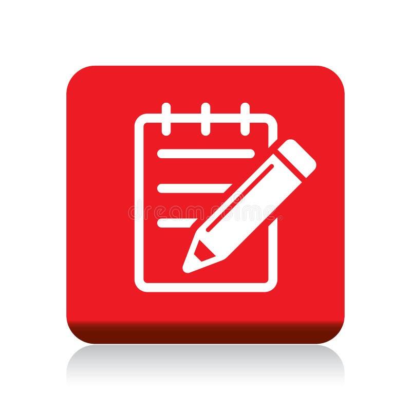 Edite o botão do ícone ilustração do vetor