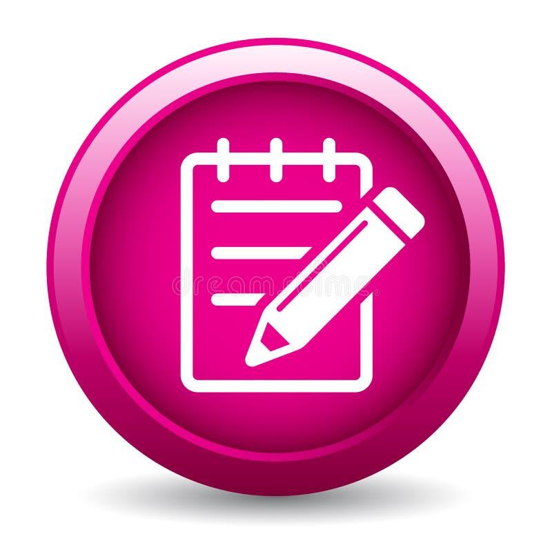 Edite o botão do ícone ilustração royalty free