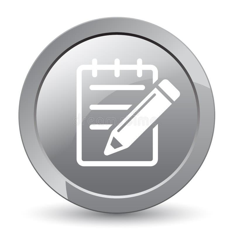Edite o botão do ícone ilustração stock
