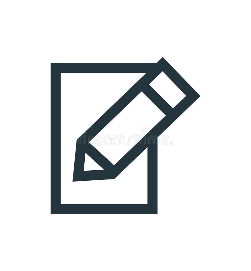 Edite o sinal do vetor do ícone e o símbolo isolado no fundo branco, edita o conceito do logotipo ilustração royalty free