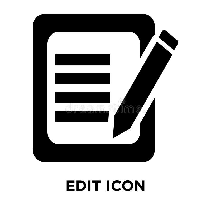 Edite o vetor do ícone isolado no fundo branco, conceito do logotipo de E ilustração royalty free