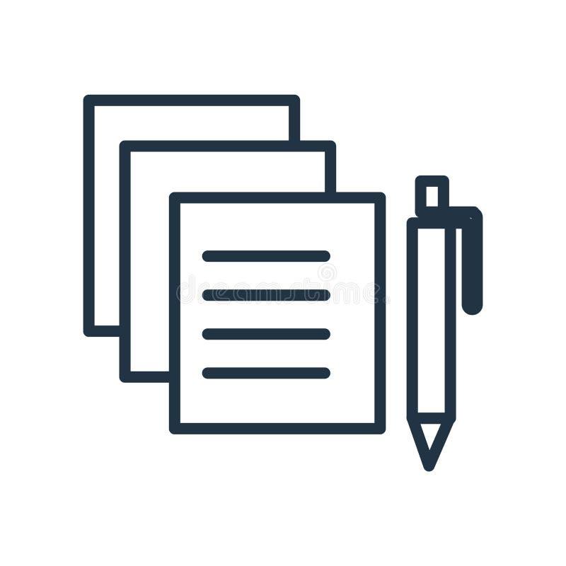 Edite o vetor do ícone isolado no fundo branco, edite o sinal ilustração royalty free
