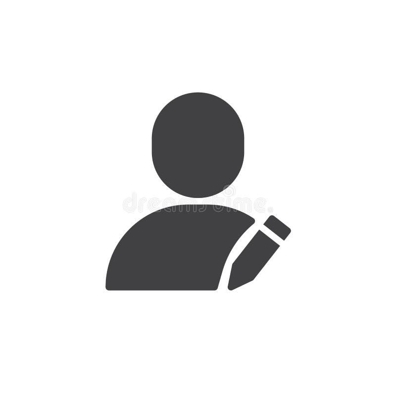 Edite o vetor do ícone do usuário ilustração royalty free