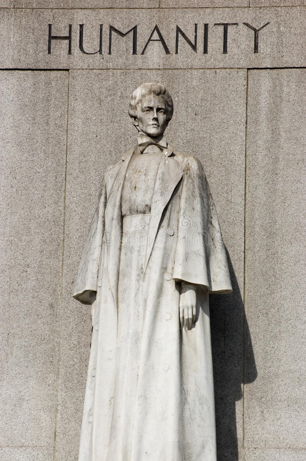 Edith Cavell Monument, Londen stock foto's
