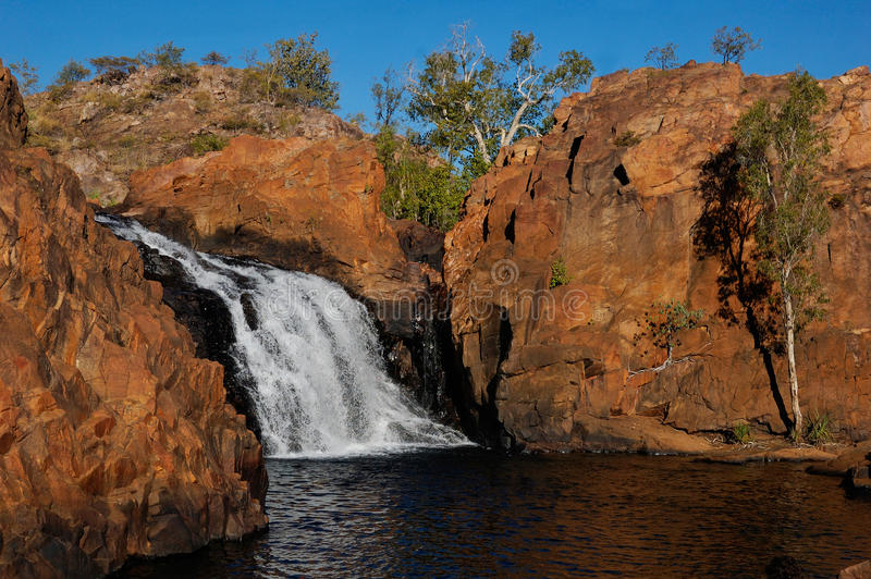 Edith Falls, Kakadu. A picture of the Edith Falls in Kakadu National Park, taken during the dry season. The falls in this picture are the upper falls stock images