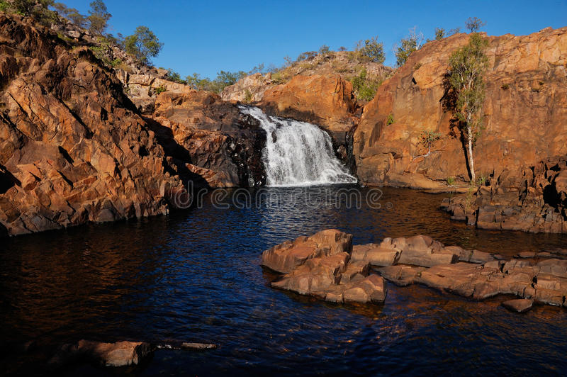 Edith Falls, Kakadu. A picture of the Edith Falls in Kakadu National Park, taken during the dry season. The falls in this picture are the upper falls royalty free stock image