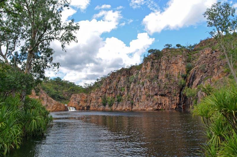 Edith Falls in Nationalpark Nitmiluk stockbilder