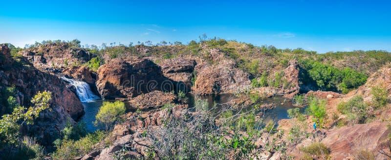 Edith Falls Panorama, Noordelijk Grondgebied, Australië royalty-vrije stock foto