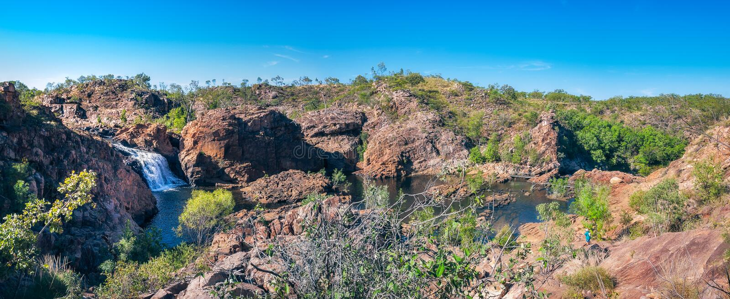 Edith Falls Panorama nordligt territorium, Australien royaltyfri foto