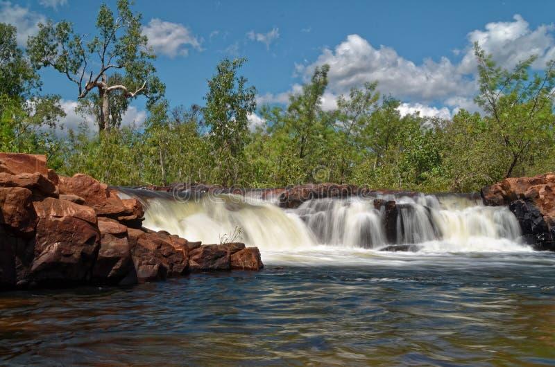 Edith River Cascades an Nationalpark Nitmiluk lizenzfreie stockfotos
