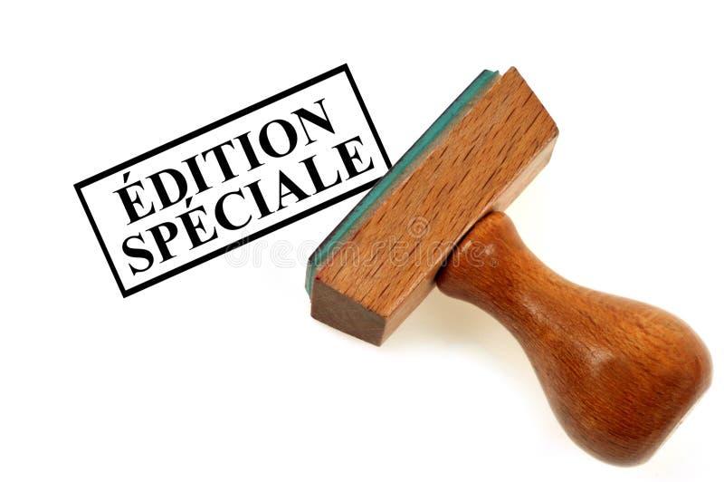 Edition spéciale écrite en français illustration de vecteur