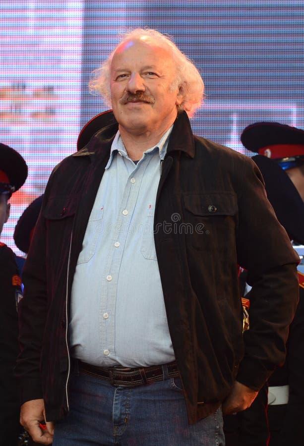 Editor-in-chief of the newspaper `Moskovskaya Pravda` Shod Muladzhanov. MOSCOW, RUSSIA - SEPTEMBER 5, 2015:Editor-in-chief of the newspaper `Moskovskaya Pravda royalty free stock image