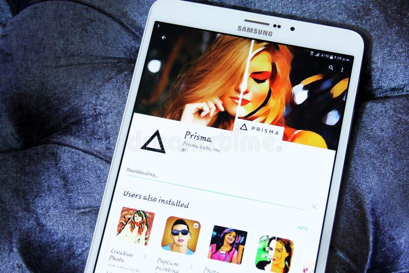 Editor de fotos app del Prisma fotos de archivo libres de regalías