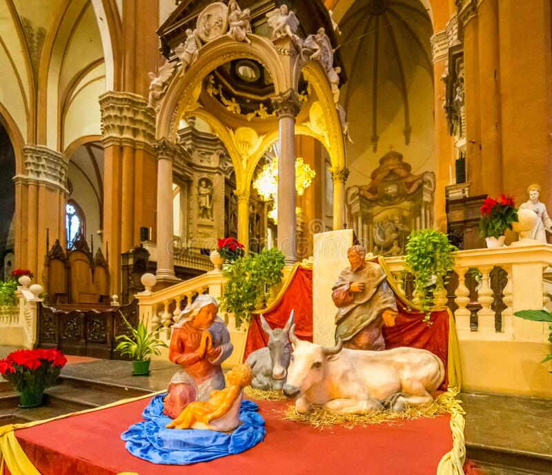 EDITORIAAL BOLOGNA Saint Petronius royalty-vrije stock foto's