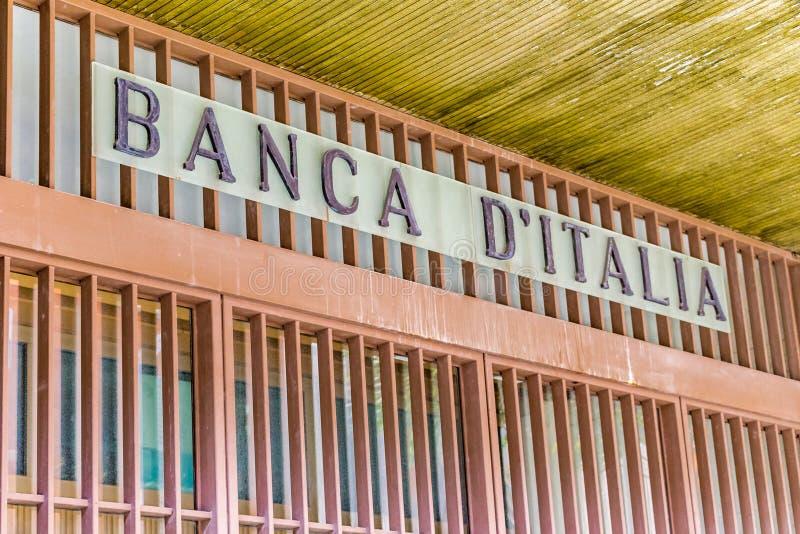 EDITORIAL, Bank of Italy. RAVENNA, ITALY - FEBRUARY 15, 2018: The branch of the Bank of Italy in Ravenna ceased its activity in 2009 stock photos