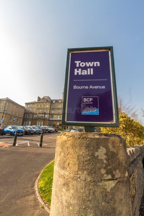 Editorial, BCP Bournemouth, Christchurch y consejo de Poole, creó el 1 de abril de 2019 el 30 de marzo de 2019 imagenes de archivo