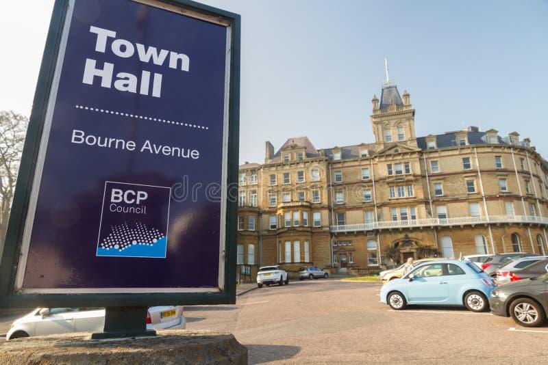 Editorial, BCP Bournemouth, Christchurch y consejo de Poole, creó el 1 de abril de 2019 el 30 de marzo de 2019 imagen de archivo