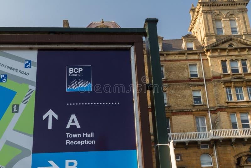 Editorial, BCP Bournemouth, Christchurch y consejo de Poole, creó el 1 de abril de 2019 el 30 de marzo de 2019 imágenes de archivo libres de regalías