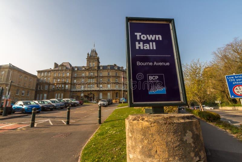Editorial, BCP Bournemouth, Christchurch y consejo de Poole, creó el 1 de abril de 2019 el 30 de marzo de 2019 fotografía de archivo