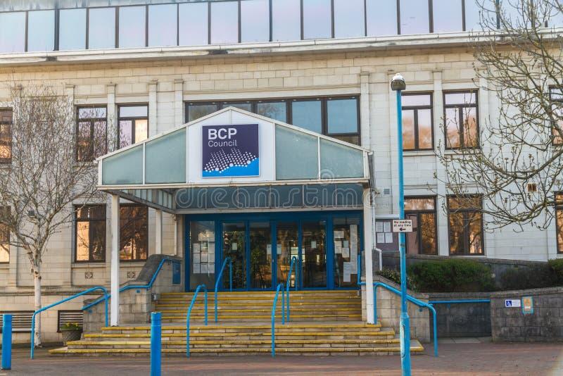 Editorial, BCP Bournemouth, Christchurch y consejo de Poole, creó el 1 de abril de 2019 el 30 de marzo de 2019 fotos de archivo