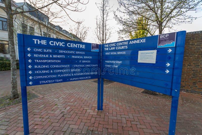Editorial, BCP Bournemouth, Christchurch y consejo de Poole, creó el 1 de abril de 2019 el 30 de marzo de 2019 fotografía de archivo libre de regalías