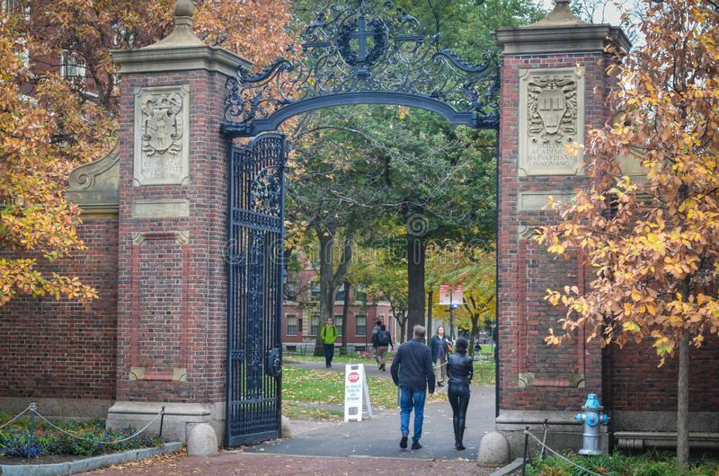 Editorial: Boston, Massachusetts/los E.E.U.U., el 6 de noviembre de 2017 Universidad de Harvard, en Cambridge, Massachusetts imagen de archivo libre de regalías