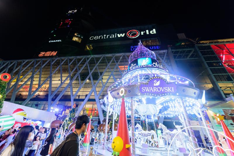 Editorial: Ciudad central de Bangkok del mundo, Tailandia, el 16 de noviembre 2 imagen de archivo libre de regalías