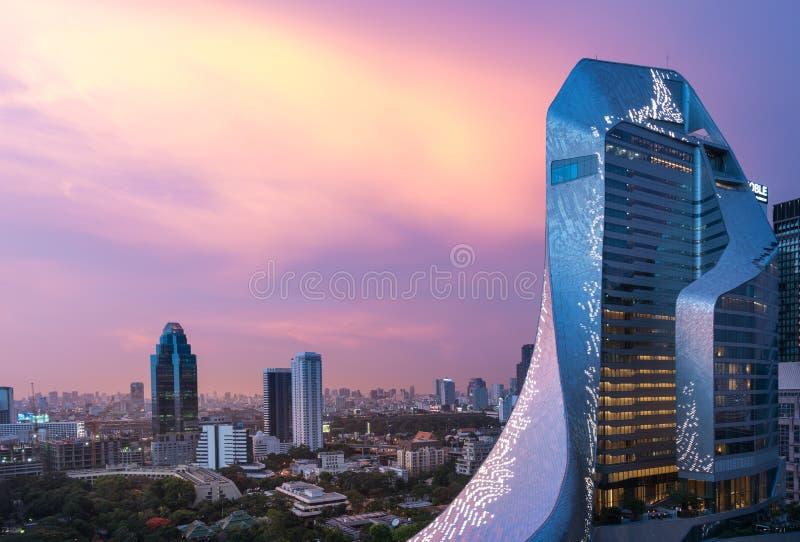 Editorial: Ciudad central de Bangkok de la embajada, Tailandia, el 4 de mayo de 2017 fotografía de archivo libre de regalías