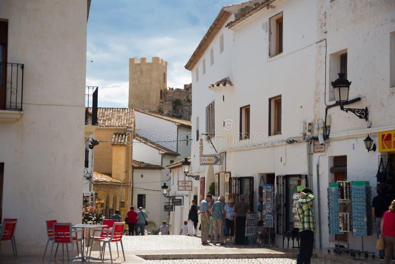 Editorial de Castell de Guadalest imagen de archivo