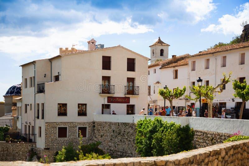Editorial de Castell de Guadalest imagenes de archivo