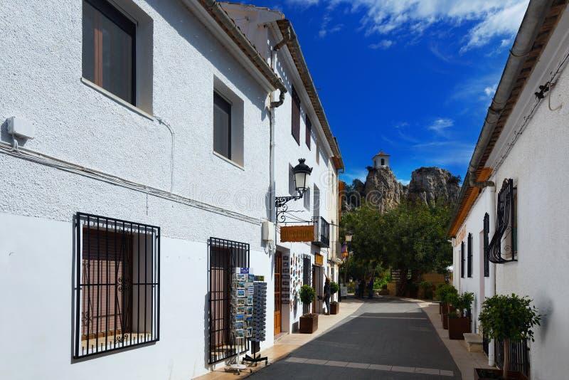 Editorial de Castell de Guadalest fotografía de archivo libre de regalías
