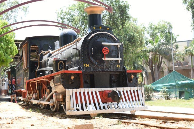 Editorial: 16 de mayo de 2015: Nueva Deli, la India, museo nacional del carril: focos en la herencia del carril de la India que s fotografía de archivo