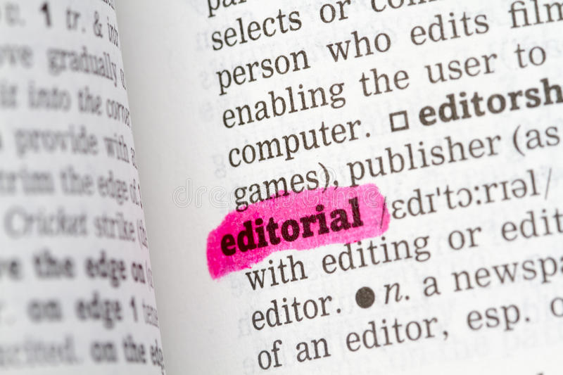 Editorial  Dictionary Definition Royalty Free Stock Photo