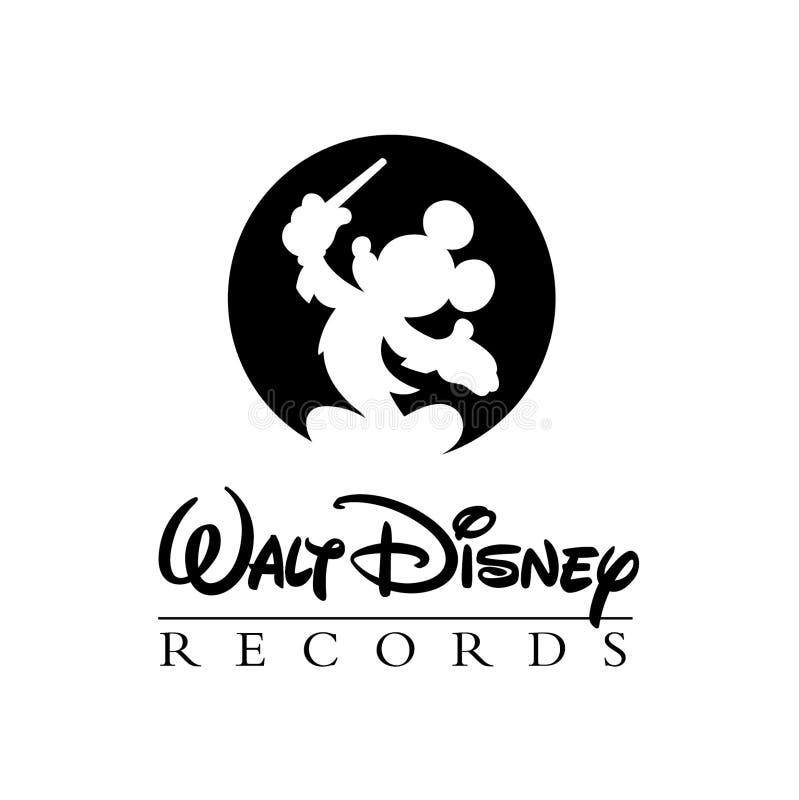 Editorial do logotipo de Walt Disney ilustração stock