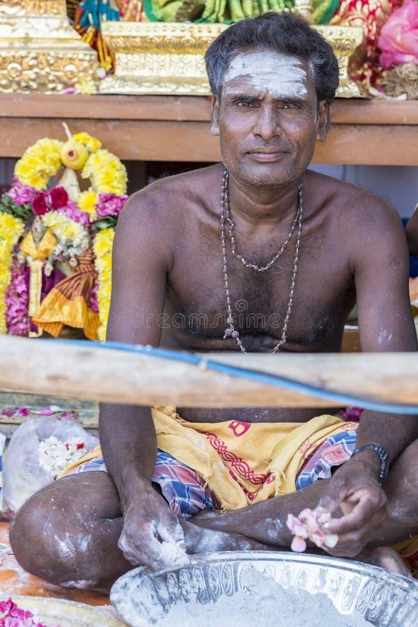 Editorial documental FESTIVAL del MASI MAGAM, PUDUCHERY, PONDICHERY, TAMIL NADU, la INDIA - 1 de marzo de 2018 Ingenio no identif fotografía de archivo libre de regalías
