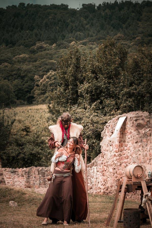 Editorial, el 14 de junio de 2015: Chatenois, Francia: DES Remparts d de la fiesta foto de archivo